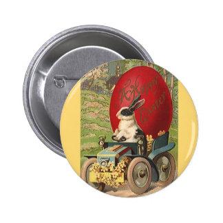 Vintage Pascua divertida, automóvil del huevo del Pin Redondo 5 Cm
