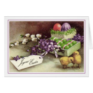 Vintage Pascua Felicitación