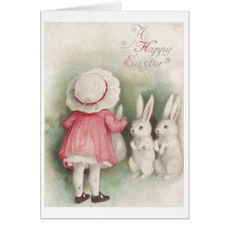 ¡Vintage Pascua feliz Tarjeta de felicitación de