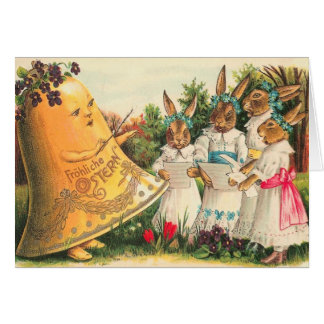 Vintage Pascua Ostern Tarjeta De Felicitación