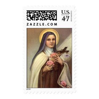 Vintage Pascua religiosa, monja con la cruz Sellos