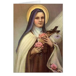 Vintage Pascua religiosa, monja con la cruz Tarjeta Pequeña