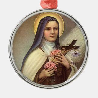 Vintage Pascua religiosa, rosas cruzados de Cristo Ornamento De Navidad