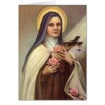 Vintage Pascua religiosa, rosas cruzados de Cristo Tarjeta Pequeña