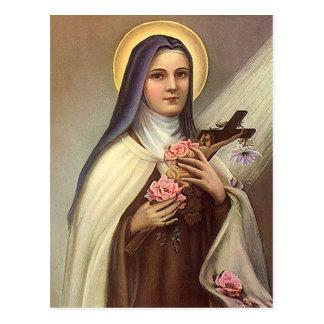 Vintage Pascua religiosa, rosas cruzados de Cristo Postales