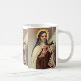 Vintage Pascua religiosa, rosas cruzados de Cristo Taza De Café
