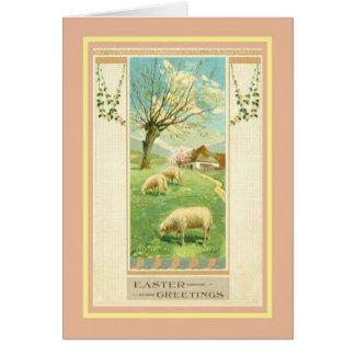 Vintage Pascua Tarjeta De Felicitación