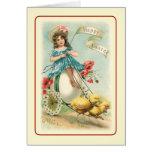 Vintage Pascua Tarjeton