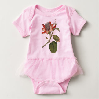 Vintage Passion Flower Baby Bodysuit