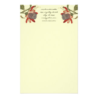 Vintage Passion Flower Stationery