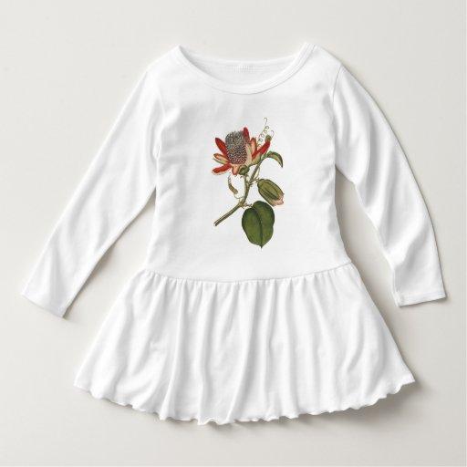 Vintage Passion Flower Toddler T-shirt Dress