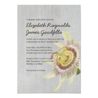 Vintage Passion Flower Wedding Invitations