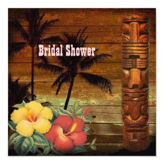 vintage passion flowers hawaii beach bridal shower invitation
