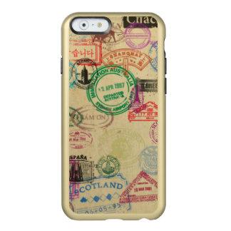 Vintage Passport Stamps Gold iPhone Case