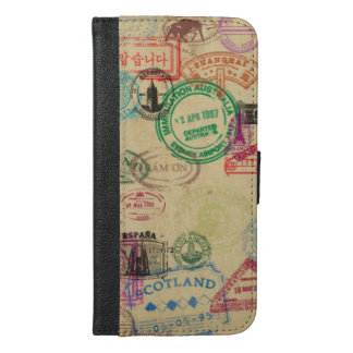 Vintage Passport Stamps iPhone Wallet Case
