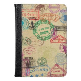 Vintage Passport Stamps Kindle Fire Hd/hdx Case at Zazzle