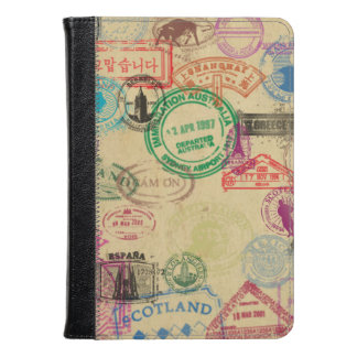 Vintage Passport Stamps Kindle Fire HD/HDX Case