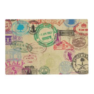 Vintage Passport Stamps Placemat
