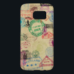 "Vintage Passport Stamps Samsung Galaxy S7 Case<br><div class=""desc"">Unleash your inner traveller with this vintage looking design featuring passport (and immigration) stamps from around the world.</div>"