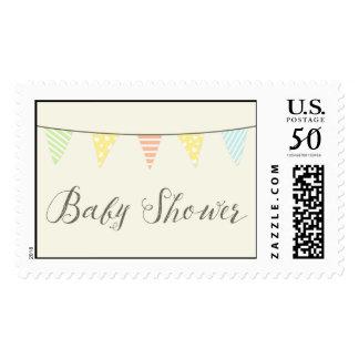 Vintage Pastel Banner Baby Shower Stamps