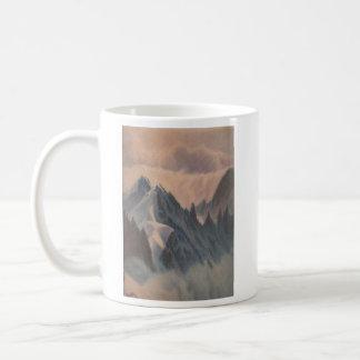 Vintage pastel drawing eerie mountain glacier coffee mug
