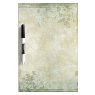 Vintage Pastel Floral Wedding Dry-Erase Board