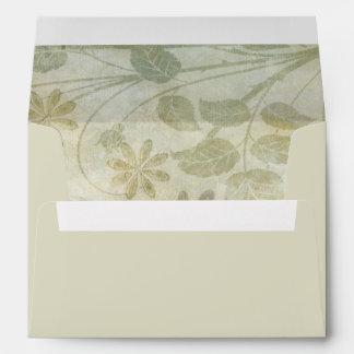 Vintage Pastel Floral Wedding Envelopes