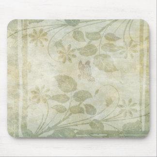 Vintage Pastel Floral Wedding Mouse Pad