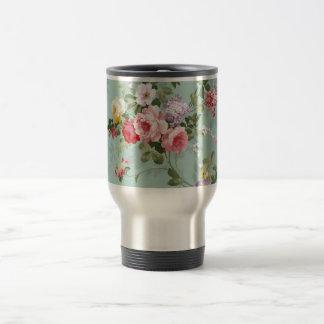 Vintage Pastel Flowers 15 Oz Stainless Steel Travel Mug