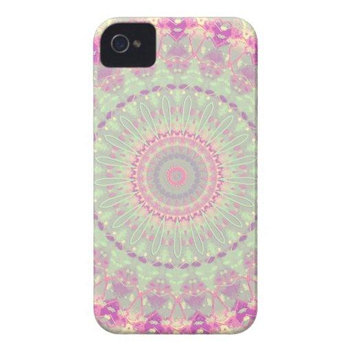 Vintage Pastel Mandala Kaleidoscope Pattern Case-Mate iPhone 4 Cases