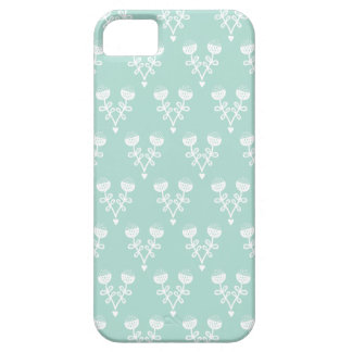 Vintage pastel mint poppy flower pattern iPhone SE/5/5s case
