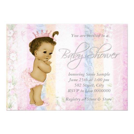 Vintage Pastel Rainbow Baby Shower Custom Announcements
