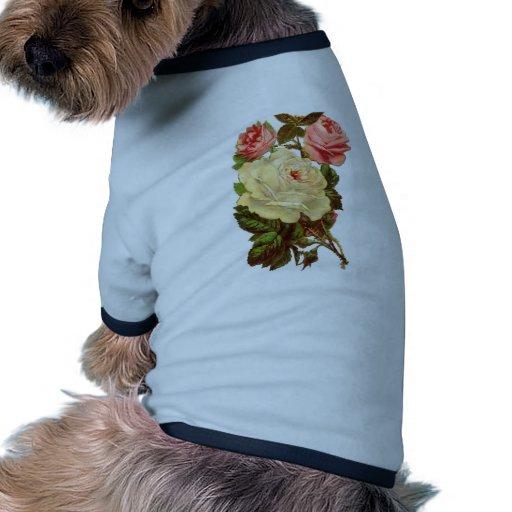Vintage Pastel Roses Pet Clothing