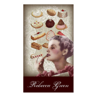 vintage pastry bridal shower tea party business card