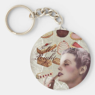 vintage pastry bridal shower tea party keychain