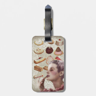 vintage pastry bridal shower tea party luggage tag