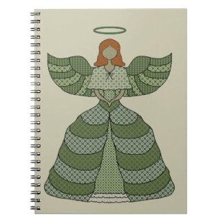 Vintage Patchwork Angel Notebook