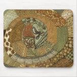 Vintage Patchwork - Brown Mousepad