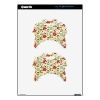 Vintage patchwork country rustic girly chic trendy xbox 360 controller skins