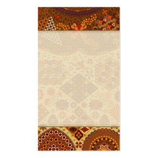 Vintage Patchwork Floral - In Autumn Colors Business Card Template