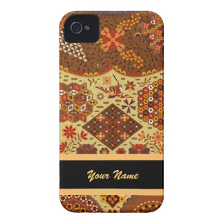 Vintage Patchwork Floral - In Autumn Colors iPhone 4 Case