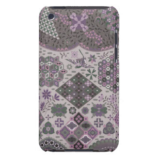 Vintage Patchwork Floral - Subdued Pink and Green iPod Touch Case-Mate Case