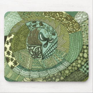 Vintage Patchwork - Green Mouse Pad