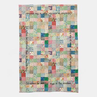 Vintage Patchwork Print Kitchen Towel