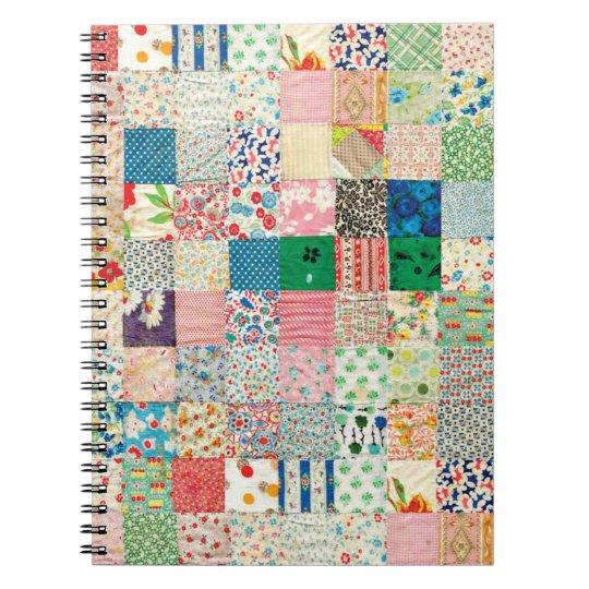 a patchwork notebook