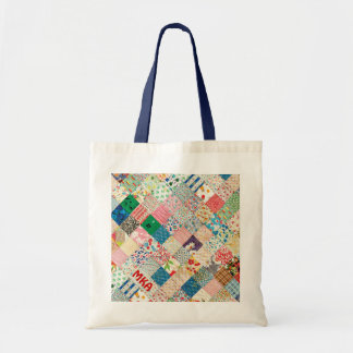 Vintage Patchwork Print Tote Bag Canvas Bags