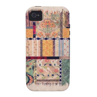 Vintage Patchwork Quilt Design iPhone 4 Case
