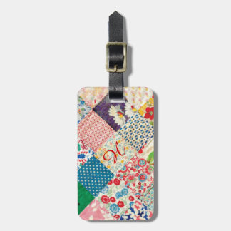 Vintage Patchwork Quilt Luggage Tag Luggage Tag