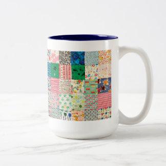 Vintage Patchwork Quilt Mug Mugs