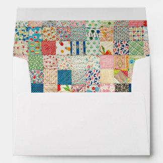 Vintage Patchwork Quilt Print Envelope Envelope